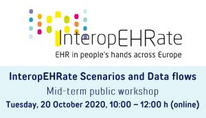 InteropEHRate Scenarios and Data flows – Progress documented at Mid-term public workshop